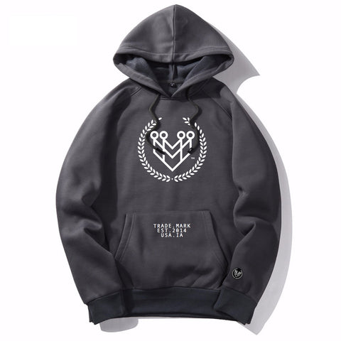 CLASSIC LOGO HOODIE - BLACK - Made4Mankind Clothing