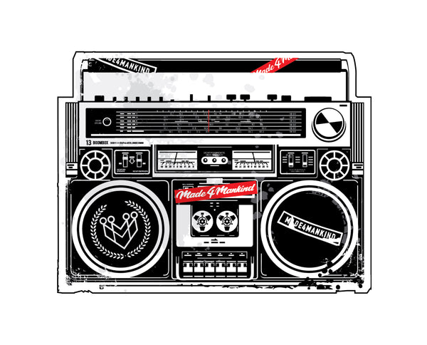 "M4MC ""BOOMBOX"" STICKER"