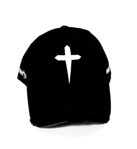 HUSTLE & MOTIVATE DAD HAT - BLACK