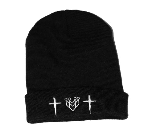 CROSS LOGO BEANIES - Made4Mankind Clothing