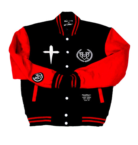 HUSTLE & MOTIVATE LETTERMAN JACKET - Made4Mankind Clothing