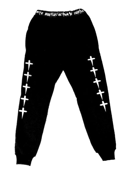 HUSTLE & MOTIVATE JOGGERS - BLACK - Made4Mankind Clothing