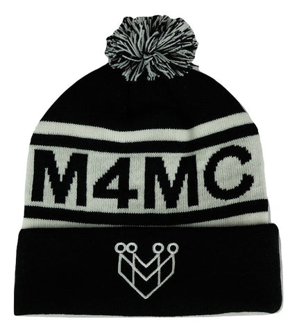 M4MC Logo Pom Beanie - Made4Mankind Clothing