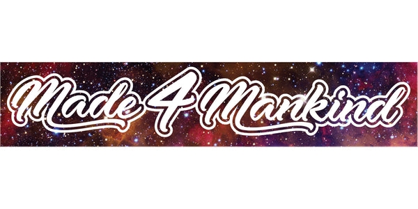 "M4MC ""Galaxy Box Logo"" Reflective Sticker - Made4Mankind Clothing"