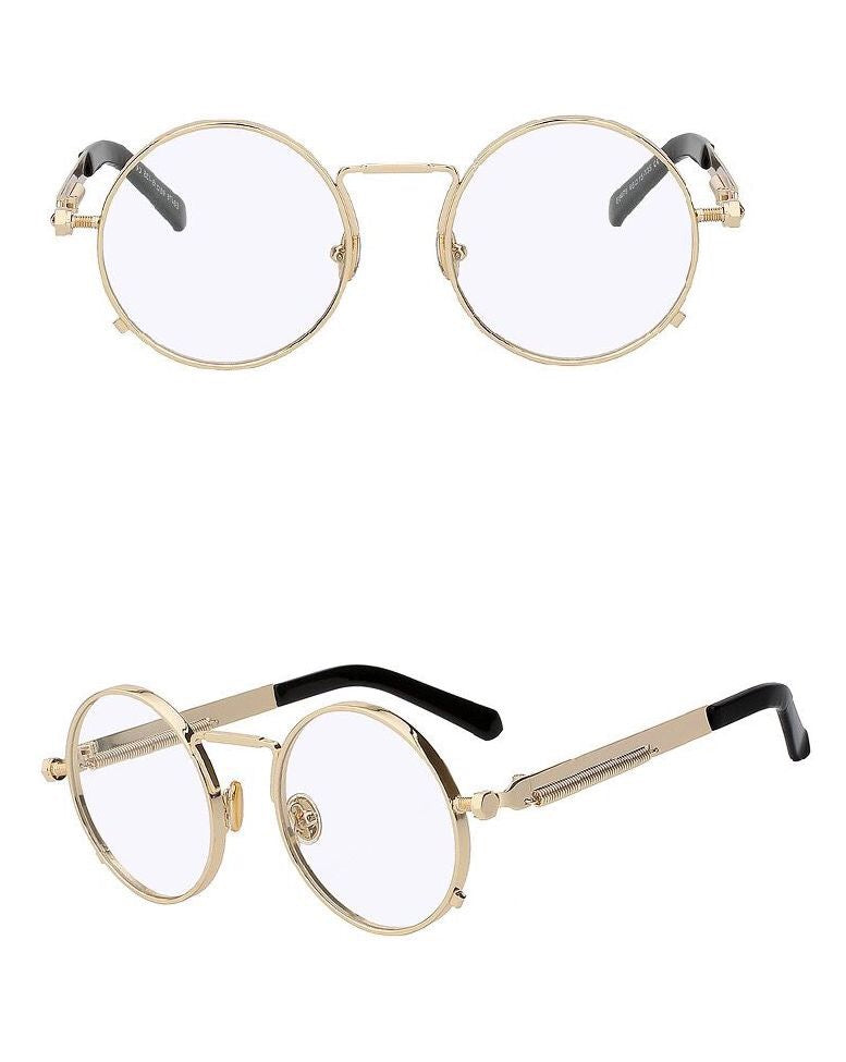 b1b2935fb VINTAGE ROUND SUNGLASSES - CLEAR/GOLD - Made4Mankind Clothing ...