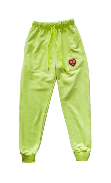 BOSS BABE WOMENS JOGGER - NEON LIME - Made4Mankind Clothing