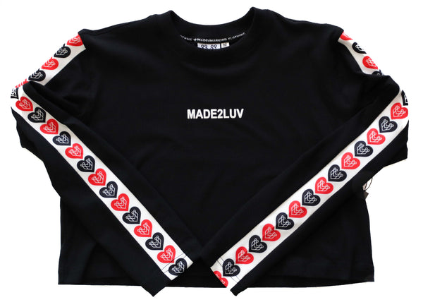 MADE2LUV CROP TOP L/S - BLACK - Made4Mankind Clothing