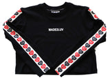 MADE2LUV CROP TOP L/S & JOGGER FIT - BLACK - Made4Mankind Clothing
