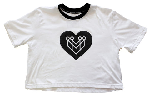 Black Heart Logo Crop Top Tee - Made4Mankind Clothing