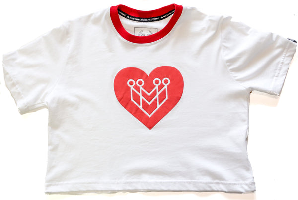 Red Heart Logo Crop Top Tee - Made4Mankind Clothing