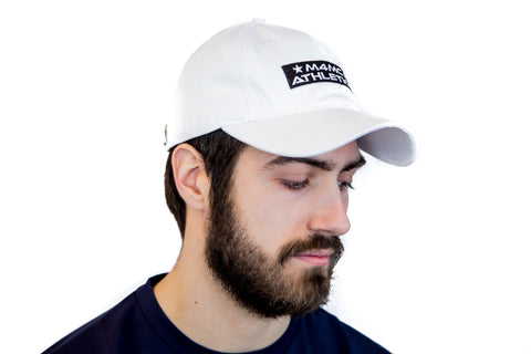 M4MC Athletics Dad hat - White - Made4Mankind Clothing