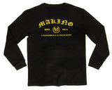MADE OLD ENGLISH L/S - BLACK - Made4Mankind Clothing