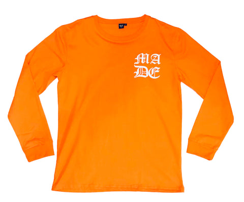 MADE OLD ENGLISH L/S - ORANGE - Made4Mankind Clothing