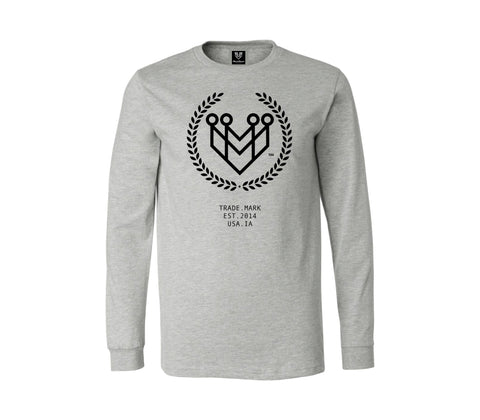 CLASSIC LOGO L/S TEE - LT. GRAY - Made4Mankind Clothing