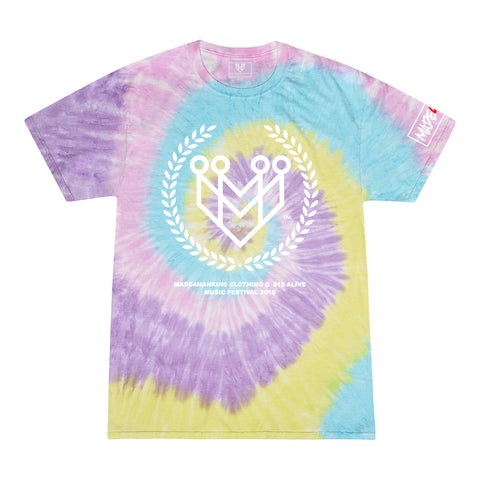 CLASSIC LOGO TIE-DYE TEES (515 ALIVE EXCLUSIVE) - JELLY BEAN - Made4Mankind Clothing