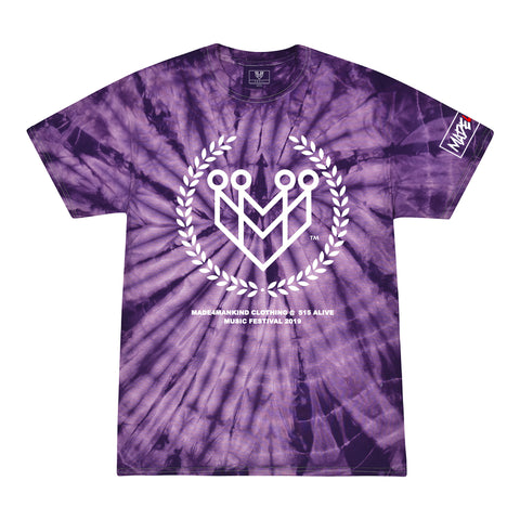 CLASSIC LOGO TIE-DYE TEES (515 ALIVE EXCLUSIVE) - SPIDER PURPLE - Made4Mankind Clothing