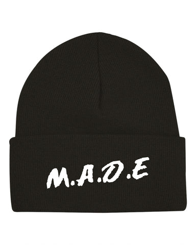 MADE BEANIE  - BLACK/WHITE - Made4Mankind Clothing