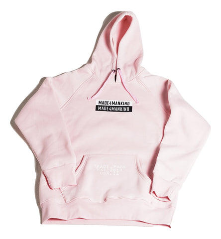 BOX LOGO HOODIE - PINK - Made4Mankind Clothing