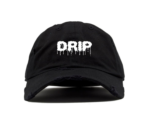DRIP DAD HAT - BLACK/WHITE - Made4Mankind Clothing