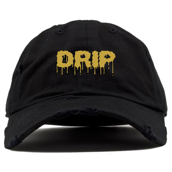 DRIP DAD HAT - BLACK/GOLD - Made4Mankind Clothing