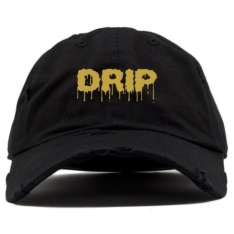 """DRIP"" DAD HAT - BLACK/GOLD - Made4Mankind Clothing"