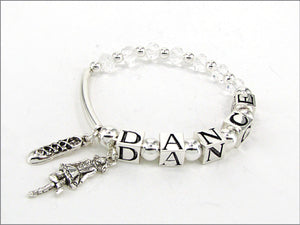 Irish Dance bracelet with dancer and soft shoe