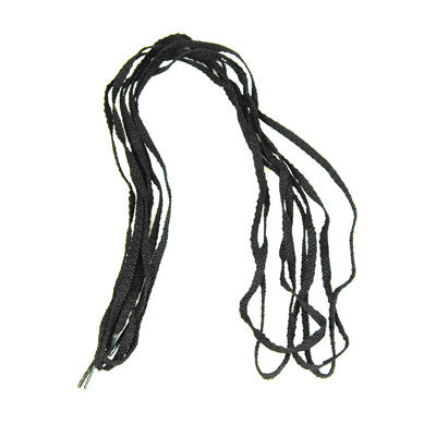 Black flat soft shoe laces