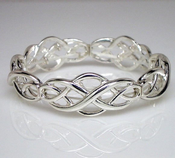 Silvertone Celtic stretch bracelet