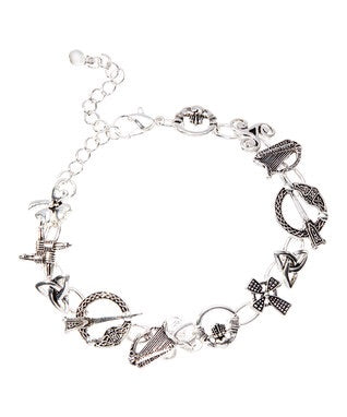 Thirteen Charm Symbols of Ireland bracelet