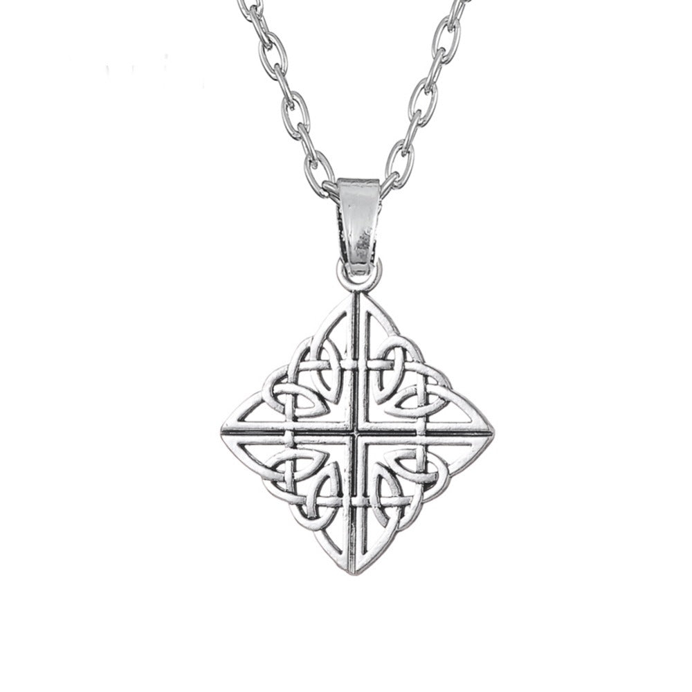 Square Four World  Trinity Knot Necklace