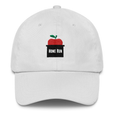 new york mets home run apple dad hat white