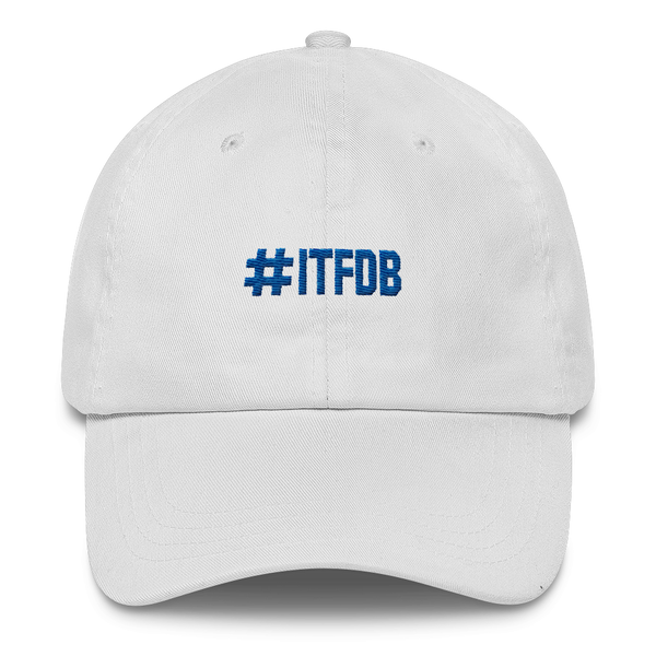 #itfdb its time for dodger baseball white dad hat