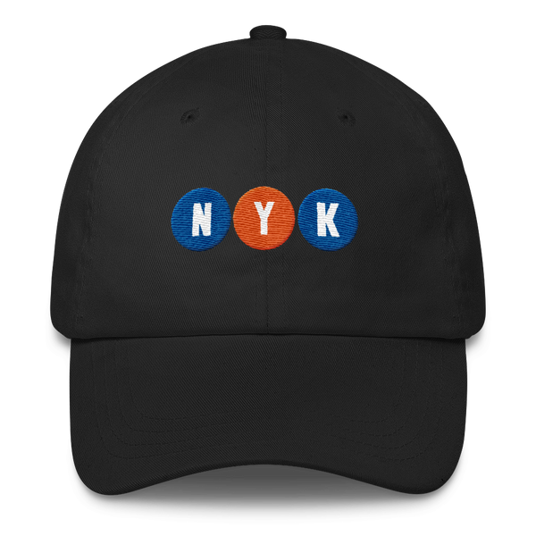 nyk basketball subway stop dad hat new york knicks hat