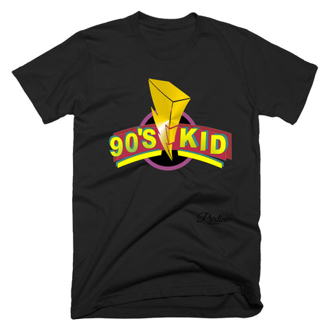 Power Rangers Style 90s Kid Shirt in black