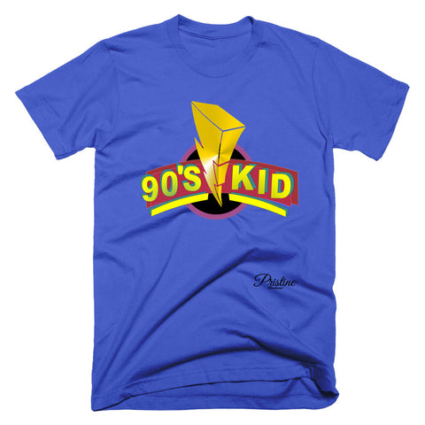Power Rangers Style 90s Kid Shirt in blue
