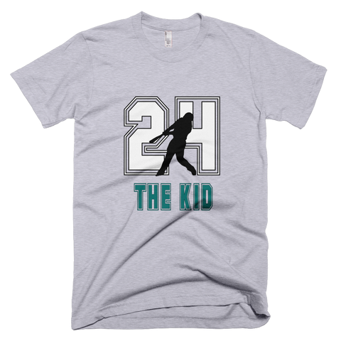 Ken Griffey Jr. 'The Kid' #24 Baseball T-Shirt in Heather Grey