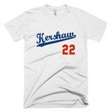 White Clayton Kershaw T-Shirt #22 Los Angeles Dodgers