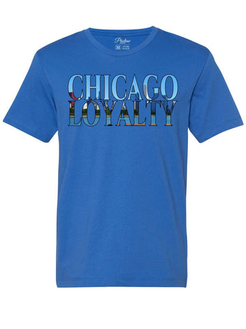 Blue Chicago Skyline T-Shirt - The Loyalty Collection