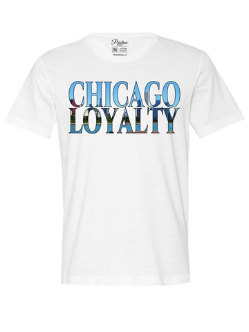 White Chicago Skyline T-Shirt - The Loyalty Collection