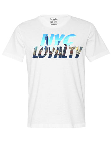 White New York City Skyline T-Shirt - The Loyalty Collection