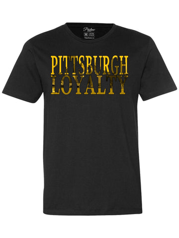 Black Pittsburgh Skyline T-Shirt