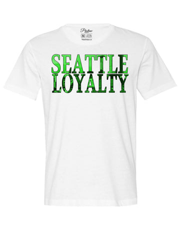 White Seattle Skyline T-Shirt