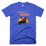 i believe in unicorns porzingis knicks blue tshirt