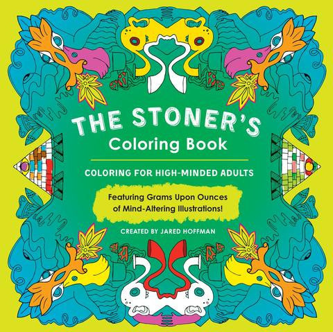 adult colouring 'the stoners colouring book'