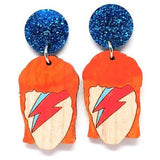 blossom and cat earrings 'aladin sane painted dangles'
