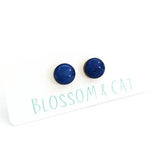 blossom and cat earrings 'mini dot studs' ultra marine