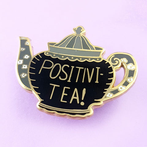 jubly-umph enamel pin positivi-tea-pot
