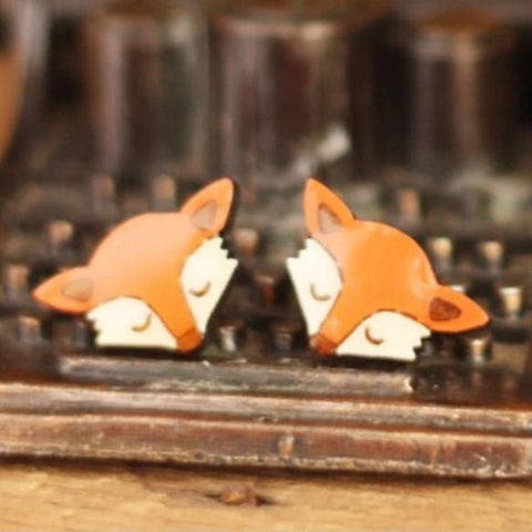 bok bok b'gerk earrings 'fox'