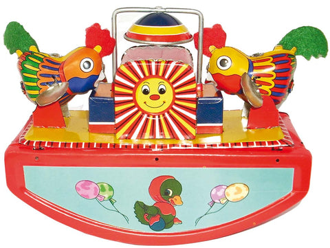 retro tin toy 'rocking chicks'
