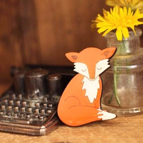 bok bok b'gerk brooch 'fox'
